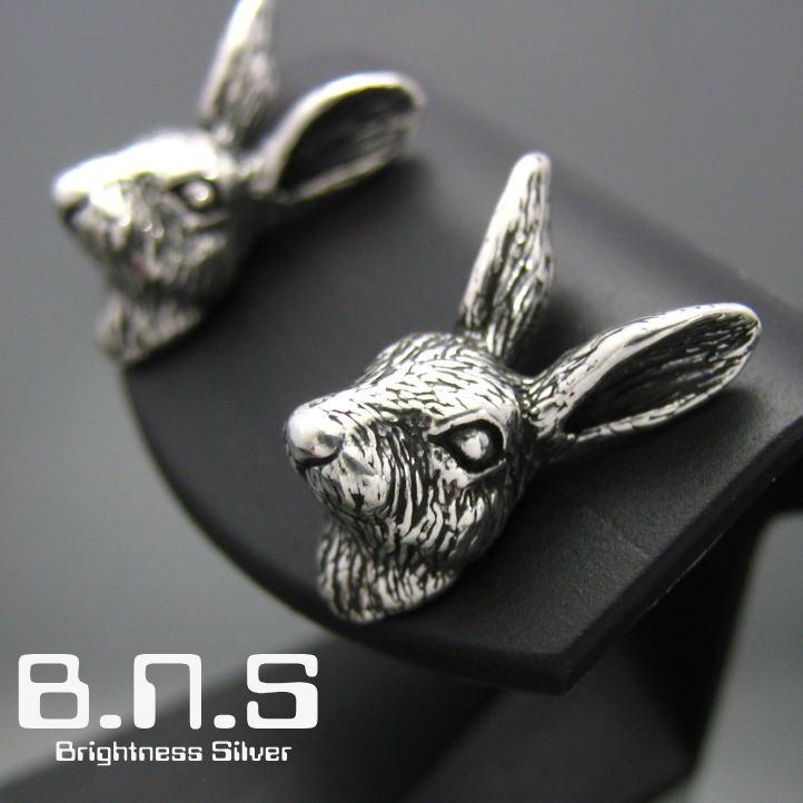 ウサギのピアス 銀の兎 野うさぎピアス 片方販売 贈答 シルバー925 動物 rabbit うさぎ ラビット ウサギ 在庫処分