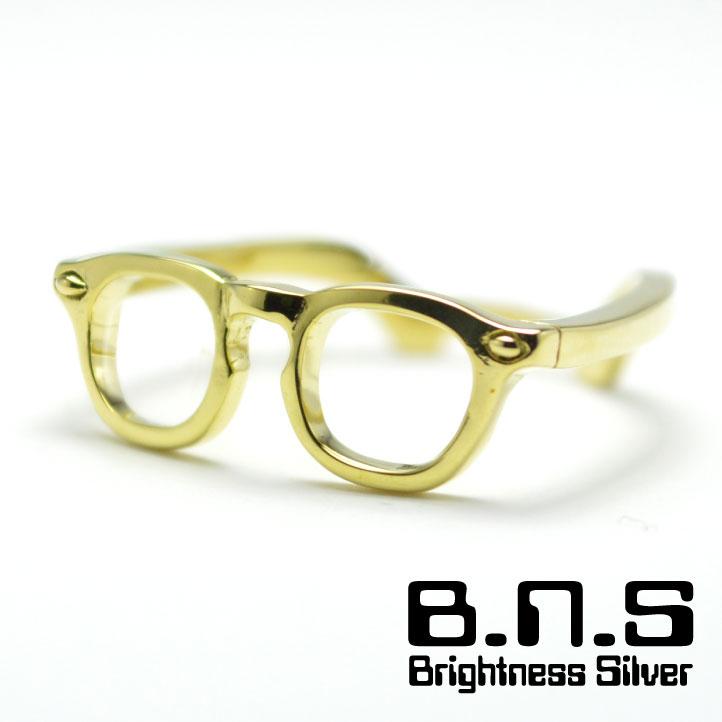 ミニチュア眼鏡のリング めがねのゆびわ 公式サイト メガネブラスリング 真ちゅう製 眼鏡 brass 商品 サングラス 真鍮