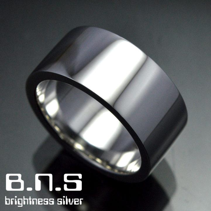 平打ちシルバーリング 10mm シルバー925 ペアリングにも最適 (男性用 女性用 メンズ レディース シンプル 結婚 指輪 マリッジリング 刻印可 刻印無料 銀)
