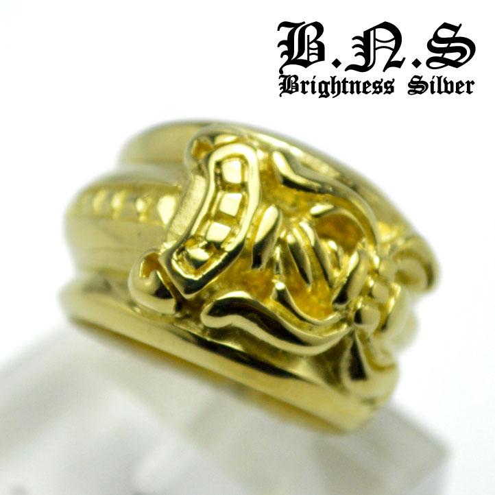 ゴールドゴシックナイフリング 真鍮 真ちゅう ブラス brass ダガー