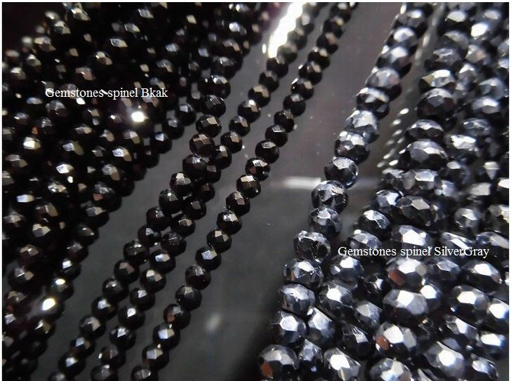 ブラックスピネル ネックレス シルバーグレー ハワイアンジュエリーワンランク上の 形状記憶 選べるパーツ Silver925製天然石 パワーストーン jyu03808wnOPk