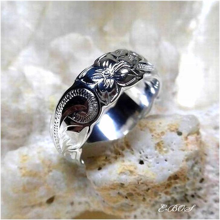 ハワイアンジュエリー リング 指輪 ヘヴィウェイト 「 8mm幅」 バレル スクロール リング メンズ SILVER925 hr039