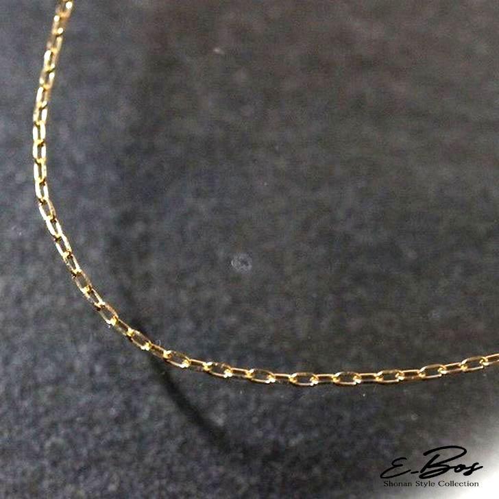 ネックレス K18 ゴールド チェーン アズキ イエローゴールド ピンクゴールド ホワイトゴールド レディース 0.2φ 3cmの長さ調節可能 gn010