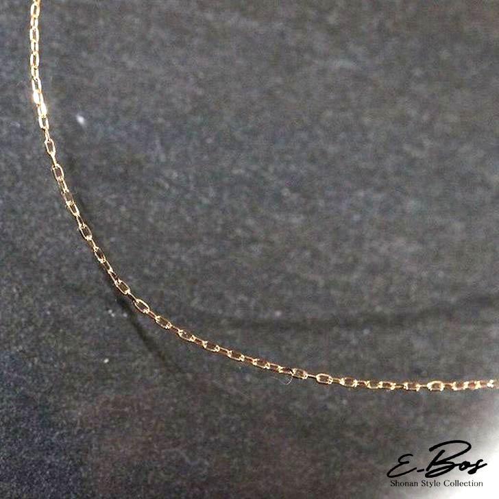 ネックレス K18 ゴールド チェーン アズキ ピンクゴールド イエローゴールド ホワイトゴールド レディース 0.2φ 3cmの長さ調節可能 gn012