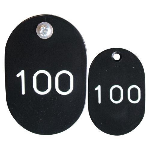 クラウン PP親子札 <2枚1組・51~100番>ポルプロピレン樹脂製 CR-PY100-B/黒【a19929】