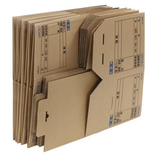 クラウン 文書保存箱[10個入] CR-BH340x10【a64925】