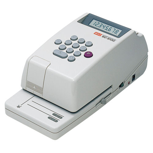 【送料無料】(北海道、沖縄、離島を除く)マックス 電子チェックライタ EC-310C【4177696】