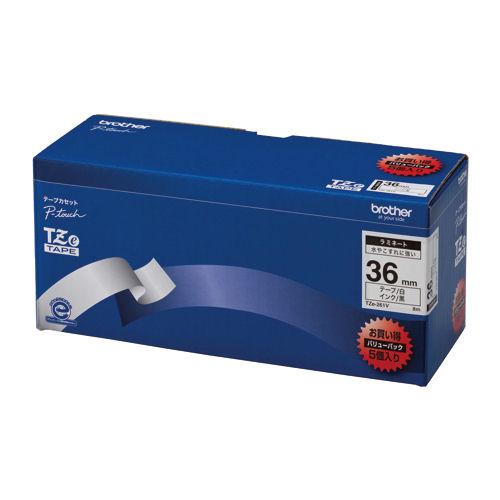 ブラザー ピータッチ用テープカートリッジ お買い得バリューパック ラミネートテープ 8m(5巻入) TZe-261V【a09852】
