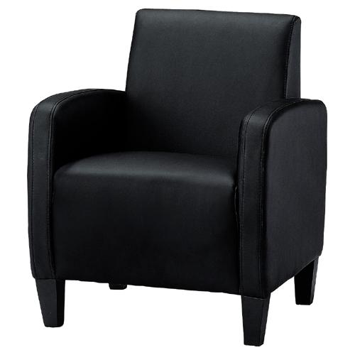 【プラス家具】ジョインテックス 応接チェア KIS-01UBK ブラック 1人掛け【メーカー直送】【代引き不可】【j-830298】