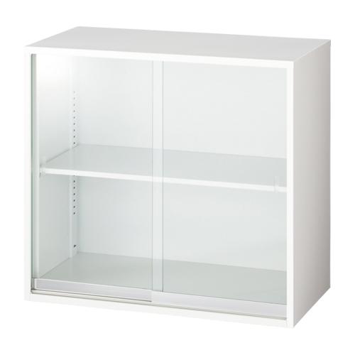 【イチオシ家具】 ジョインテックス ガラス書庫 上置 LGT-802G ネオホワイト 【組立・設置無料】【メーカー直送】【代引き不可】【j-372972】