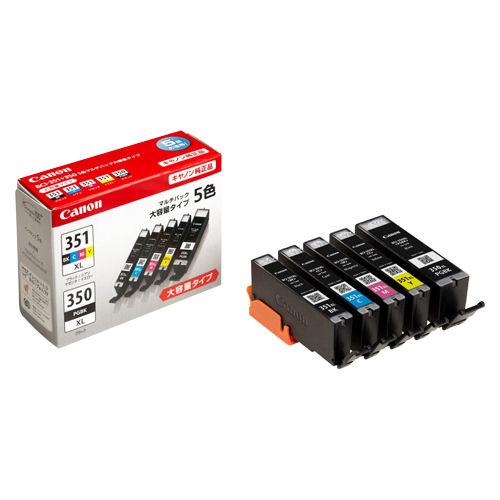 キャノン 純正インクジェットカートリッジ<5色マルチパック> BCI-351XL+350XL/5MP【a16374】