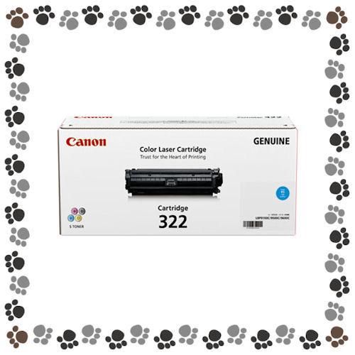 キャノン(CANON)<カラーレーザープリンター用トナーカートリッジ/純正>トナーカートリッジCRG-322CYN/シアン【7040081】