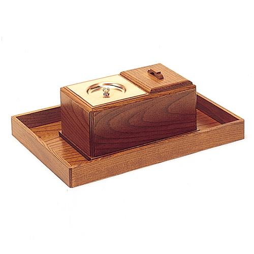 廻し香炉セット 欅製 巾30cm×奥行21cm 【お盆用品 仏具 お彼岸】