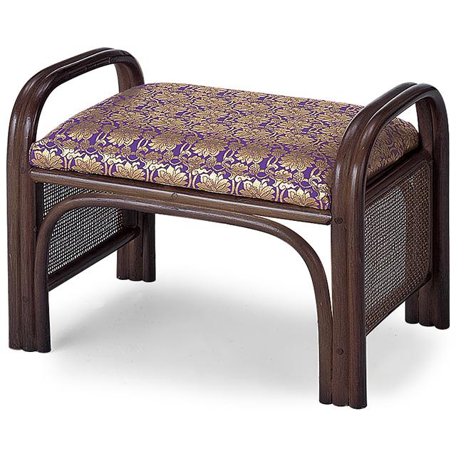 仏前金襴座椅子 紫金襴 巾49cm×奥行32cm【送料無料】【お盆用品 仏具 お彼岸 仏壇用おまいり椅子】