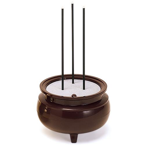 9 4~9 安心の定価販売 11までポイント5~10倍 火を使わないので安全です 安心のお線香 お盆用品 新入荷 流行 高さ14.5cm×直径8.1cm 茶色 お彼岸 仏具 中