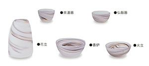≪爽やかな装い仏具≫【紫】【那須】【五具足】【ガラス仏具】【送料無料】那須