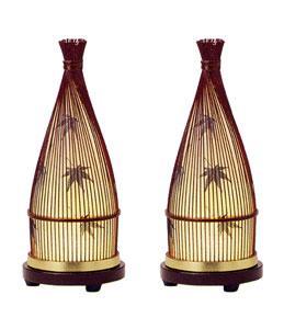 ≪おしゃれな竹製の提灯≫【提灯 てまり1号】【提灯コードレス】 【盆提灯 竹製】【モダン提灯】【創作提灯】【提灯おしゃれ一対】【一対箱入り】【てまり1号】 てまり1号 タメ色