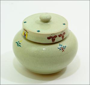 【現代仏具】コアボトル(骨壷) ~赤膚焼~ (うぐいす・小)