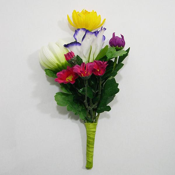 ミニサイズなので小ぶりの花立にも対応可能 ≪夏場に役立つ造花≫ 期間限定お試し価格 花立ミニ用造花 造花洋風 20センチ 仏具 花立 全長20cm 造花 安心と信頼 仏壇用 墓用 菊 造花C
