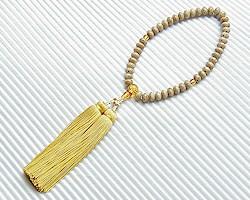 【数珠・天然石・京念珠・京都】 【数珠 星月】【数珠 女性用】女性向星月菩提樹 原色琥珀入 弥勒房
