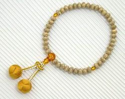 【数珠・天然石・京念珠・京都】 女性向星月菩提樹 琥珀入 小田巻凡天