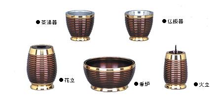 【現代仏具・モダン仏具・洋風仏具・仏具セット】 紫陽花S