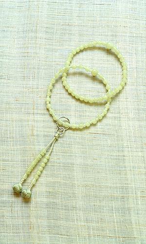 【数珠・天然石・京念珠・京都】八寸浄土本式 女性向 グリーンオニキス共仕立 小田巻