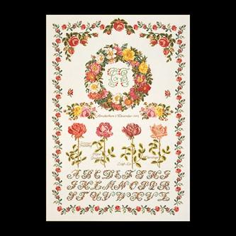 【テア・グーベルヌール】 刺繍キット 2043-6A Rose Sampler 【送料無料】