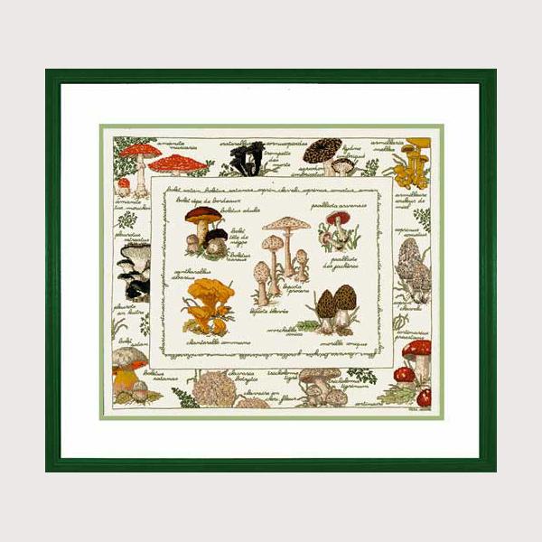 ★数量限定セール★ 【ボヌール・デ・ダム】 刺繍キット 1193 Les champignons きのこ