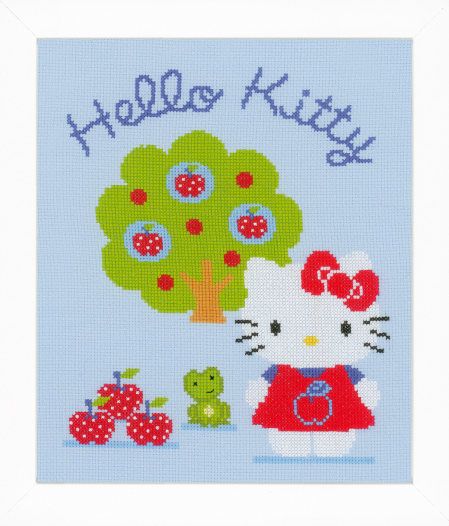 【ベルバコ】 クロスステッチ 刺繍キット 0150488 Hello Kitty and Apple Tree ハローキティとアップルツリー Hello Kitty ハローキティ【あす楽】【HLS_DU】