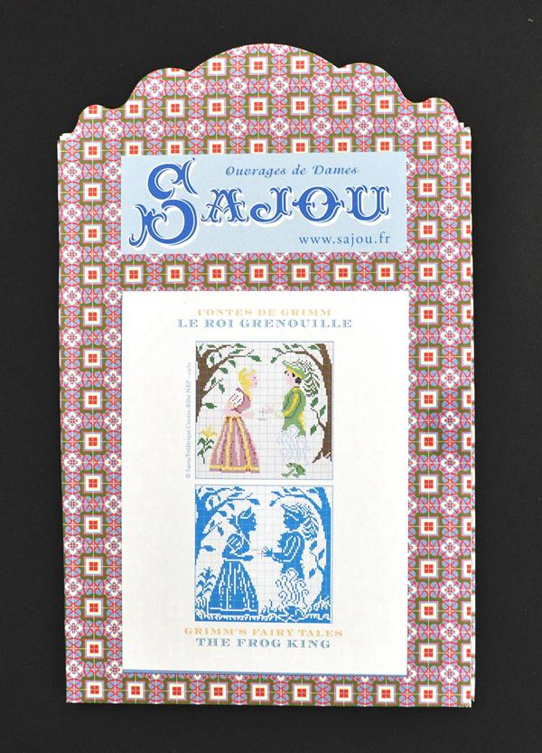 フランスより入荷しました メゾン サジュー Contes 期間限定今なら送料無料 de 賜物 Grimn 図案チャート Sajou Le Grenouille かえるの王様 グリム童話集 GRI_PDC_GRI_08 Roi