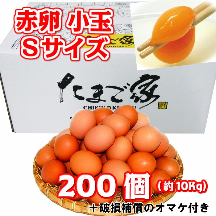 引き出物 赤卵 200個以上 Sサイズ 小玉 約10Kg 送料無料 若鶏卵 初産み卵 お歳暮 お中元 生食用 お得 鶏卵 破損補償入り 九州産 スーパーセール