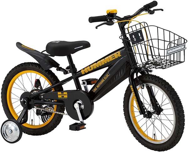 供HUMMER(哈马)16英寸小孩使用的自行车补助车轮有,供HUMMER KID'S 16-R4自行车小孩使用的小孩摩托车幼儿庸人气自行车