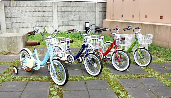 子供用自転車 16インチ キッズバイク 16インチ 男の子 女の子 子供用  カゴ・補助輪付 幼児車 低床フレーム 幼児用自転車 CHIBICLE チビクル かわいい 4色(レッド ネイビー グリーン ライトブルー)自転車 MKB16-34【RCP】