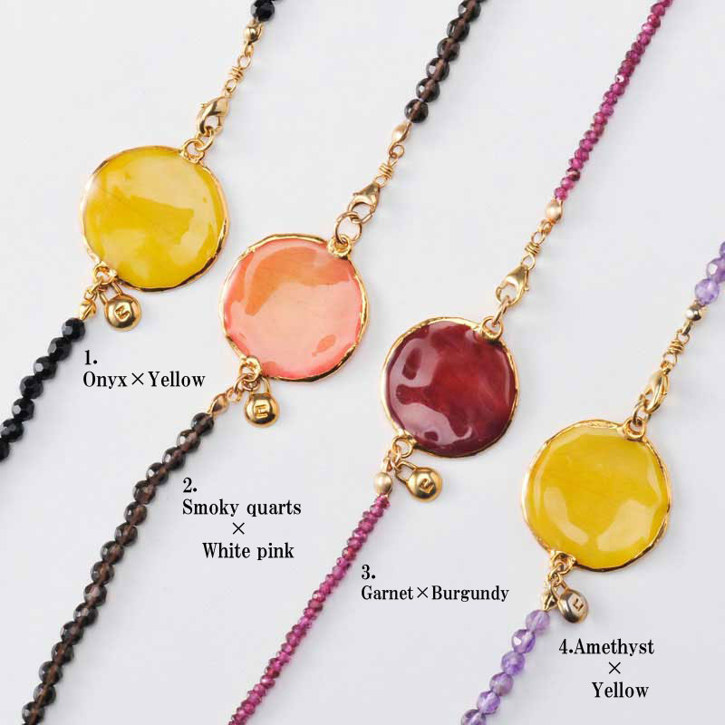rose long necklace(group4) 天然石 ロングネックレス 本物の花 バラ