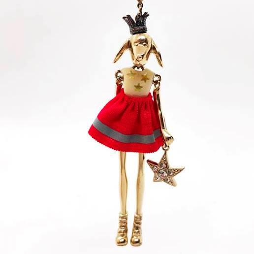 【送料無料】Servane Gaxotte セルヴァンヌ・ギャゾット ドッグネックレスServane Gaxotte セルヴァンヌ・ギャゾット パペット ネックレスピアス 手作り フランス パリ 宝物