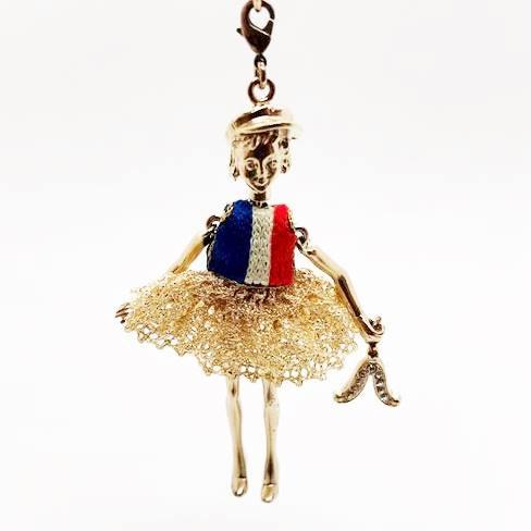 【送料無料】Servane Gaxotte セルヴァンヌ・ギャゾット ドールネックレスServane Gaxotte セルヴァンヌ・ギャゾット パペット ネックレスピアス 手作り フランス パリ 宝物