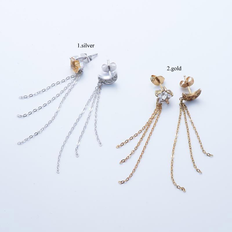 【送料無料】 星の王子さま <le petit prince> アクセサリー 3chains pierced earrings ピアス