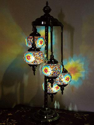 Turkey Wind Mosaic Lamp 5 Light Eyes In The Gentle Healing Light Is ♪ Free  LED ...