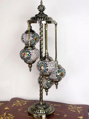 土耳其风马赛克灯 5 眼神中的温柔的愈合情况是 ♪ 免费 LED 灯泡不会变热和遮阳伞的友善的转动灯泡更换是安全和有保障 !