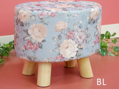 Product made in floral design petit stool mini-stool ottoman stool sirloin tool foot holder chair entrance living chair Shin pull beige wooden cloth fashion ... & e-collection: Product made in floral design petit stool mini-stool ...