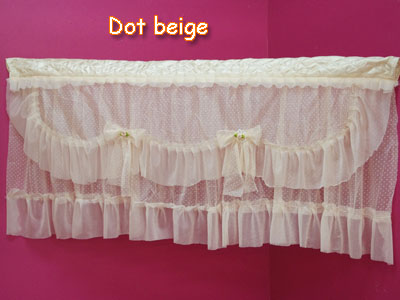 Choose from 3 colors ☆ dot Cafe curtain size 90x42cm ♪ cute popular blindfold room kitchen kitchen energy saving fabric cloth window Bay