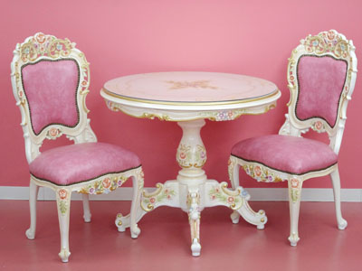 Rose White Dining Table Dining Room Two Set Dining Room Three Points Set Dining Table Table Dining Room Table Of Stylish Table White Furniture