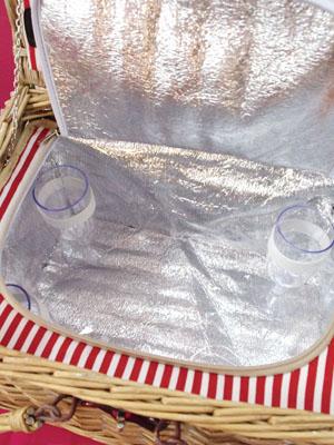 野餐篮子! 与餐具,与冰箱! 生态友好型 ♪ 袋 ☆ 体育放垃圾,午餐盒营