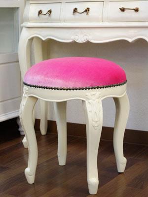 e-collection | Rakuten Global Market: Mahogany ivory stool (PINK ...