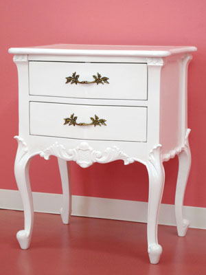 A Finished Product Of Assembling Nothing! White Side Table Wooden Drawer  Drawer Bedside Table Sofa ...