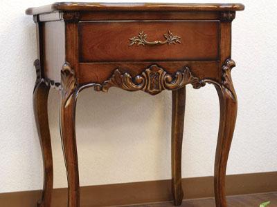 Antique Side Table Wooden Drawer Bedside Sofa