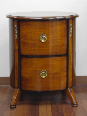 Oval type antique side table wooden drawer drawer bedside table sofa table  chest side chest bedroom fashion cabinet brown telephone stand with the ...