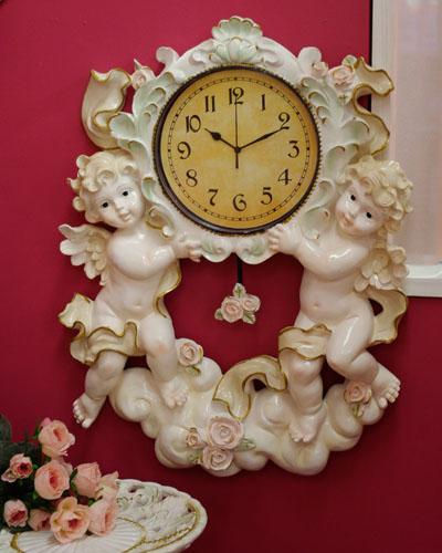 An outlet sale! Grande clock returned goods, the exchange of 50% discount wall hangings' extra-large 'clock ♪ angel of the Rakuten special price is impossible.