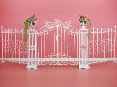 ... Garden Garden Cafe Simple Setting For The Garden Gate 133cm In Width Metal  Garden Gate Iron ...